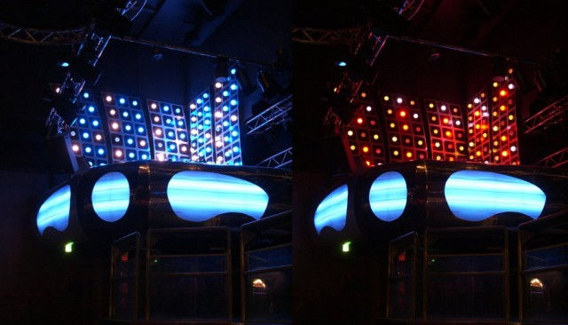interior elements and led lighting solutions for nightclub in pori
